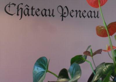 Lettres peintes à la main dans un chai à Haux