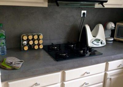 Vue de la cuisine entièrement rénovée