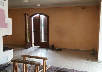 Murs du salon avant rafraichissement